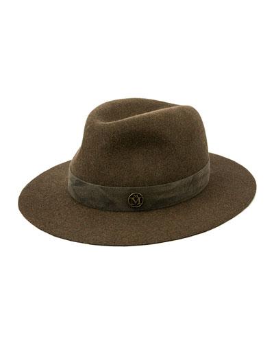 Derek Distressed Rabbit Felt Fedora Hat