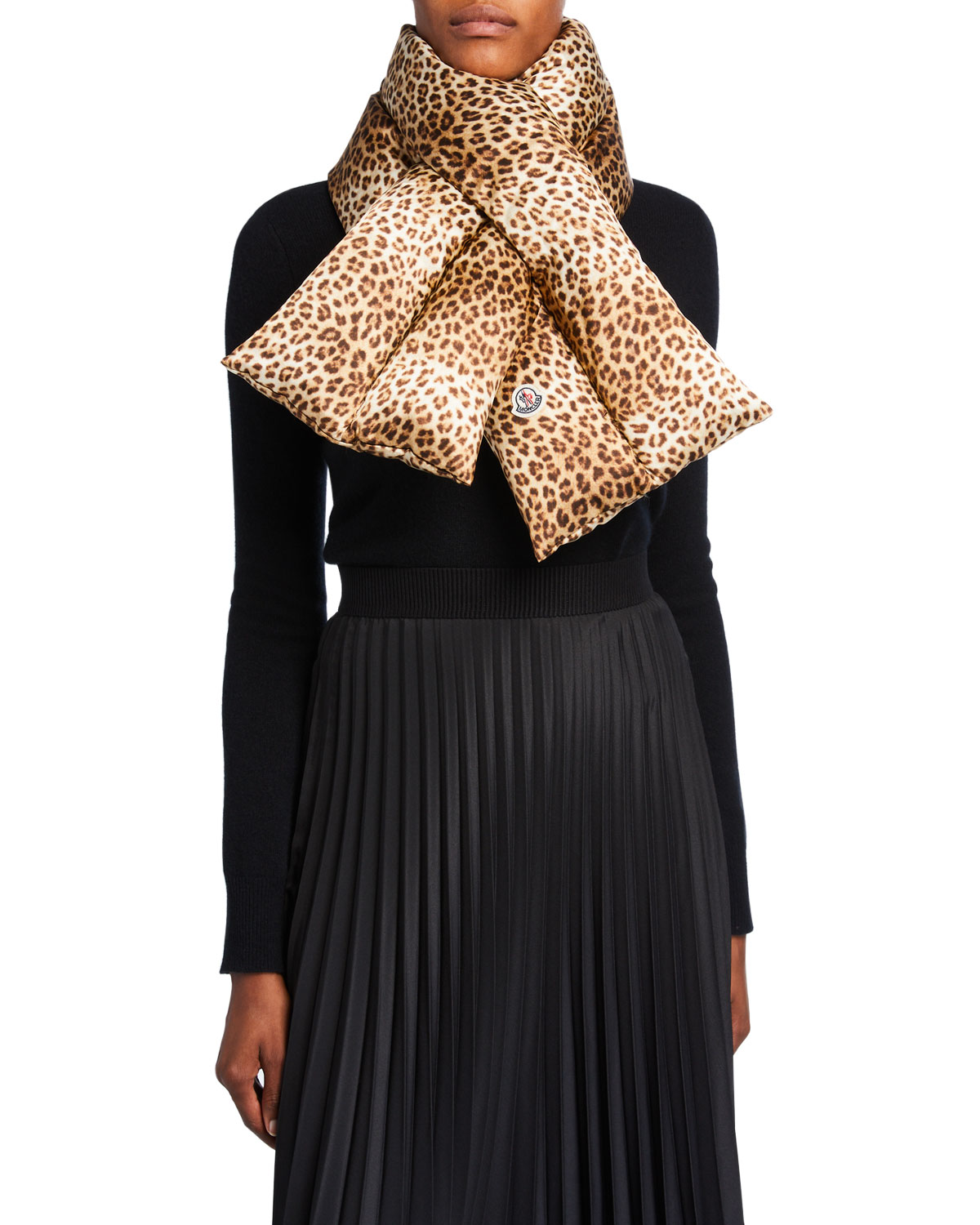 Moncler Accessories ANIMAL-PRINT PULL-THROUGH SCARF