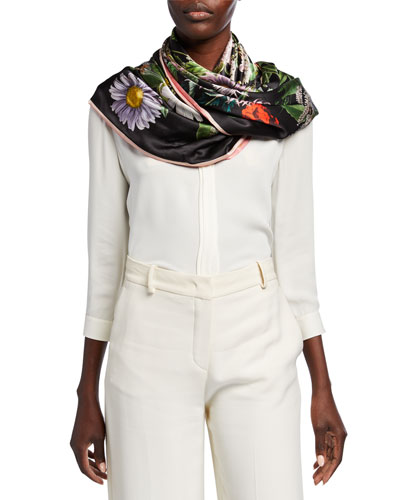 Kala + Keira Double Sided Silk Scarf