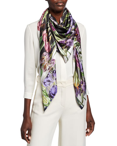 Kellen Double Sided Silk Scarf