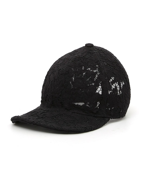 Valentino Hats HEAVY LACE BASEBALL HAT