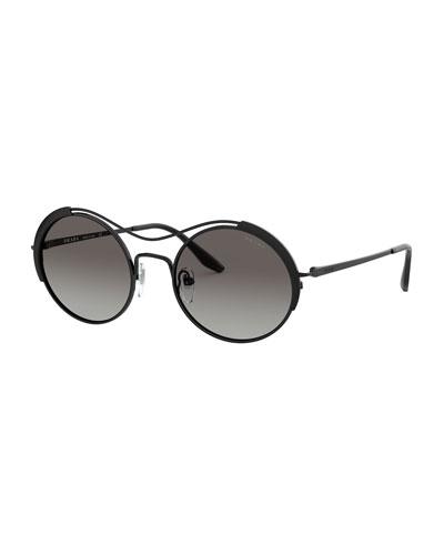 Round Metal Gradient Sunglasses