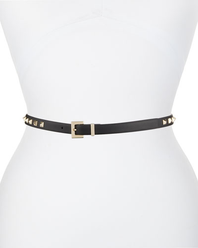 Rockstud Leather Belt