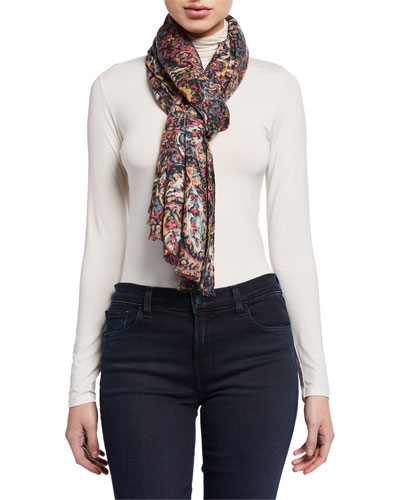 Paisley Modal-Cashmere Scarf