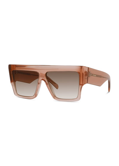 Chunky Rectangle Acetate Sunglasses