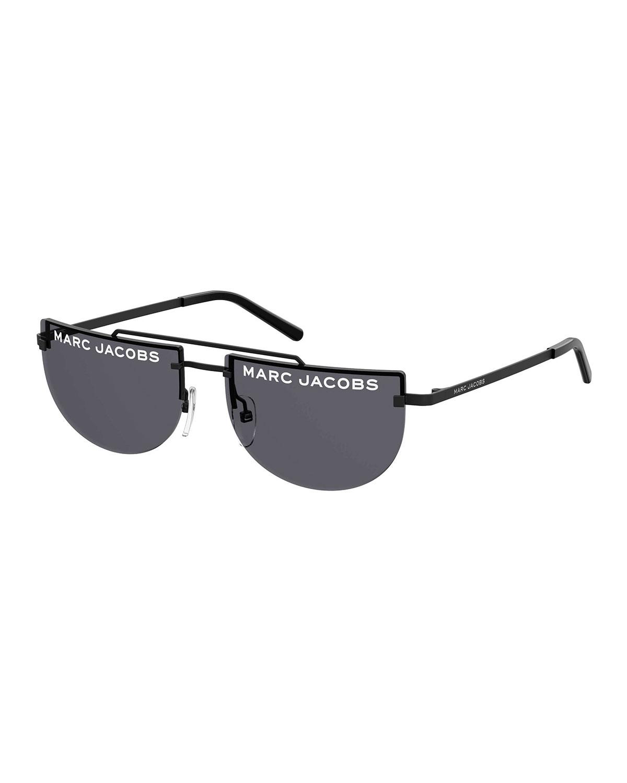 Marc Jacobs Sunglasses RIMLESS FLAT TOP LOGO SUNGLASSES