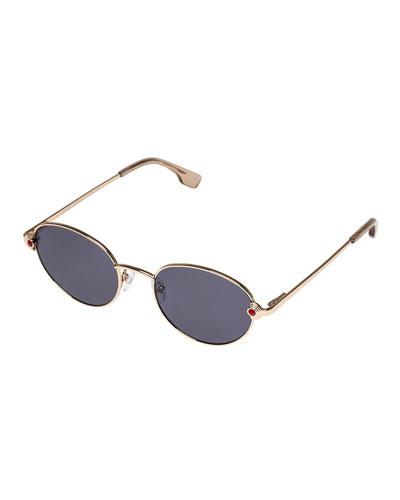 Vamp Round Metal Sunglasses