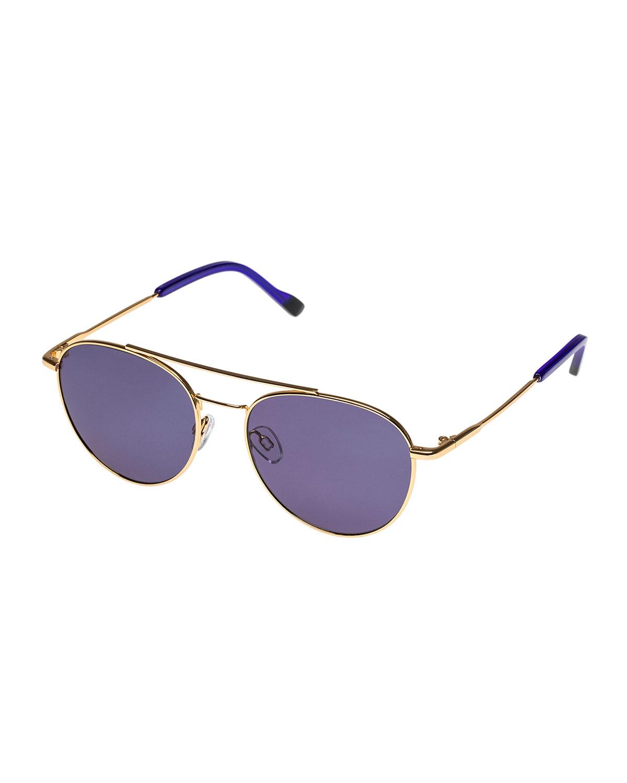 Le Specs Sunglasses SAVAGE METAL AVIATOR SUNGLASSES