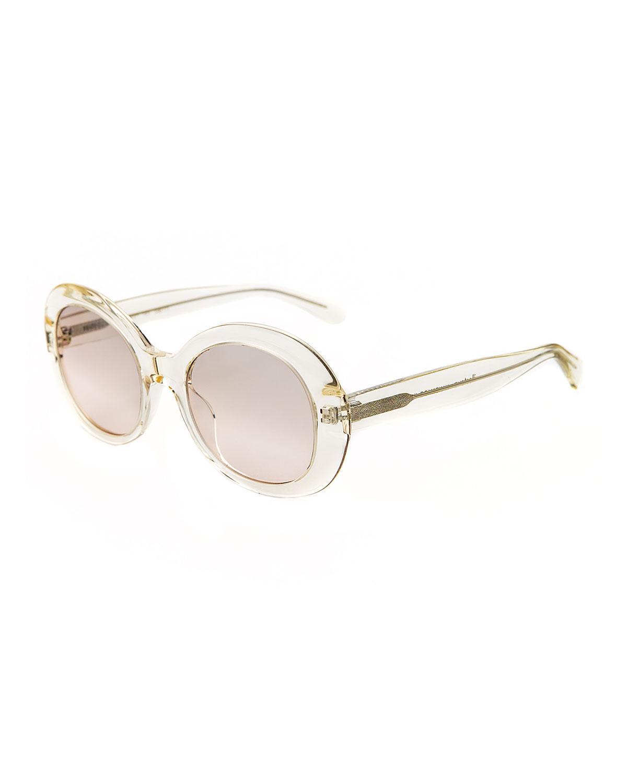 Illesteva Sunglasses CHUNKY OVAL ACETATE SUNGLASSES