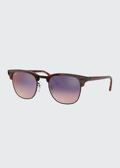 Club Master Semi-Rimless Cat-Eye Polarized Sunglasses