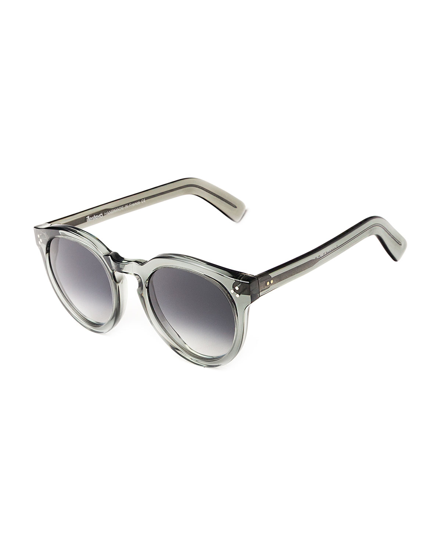 Illesteva Sunglasses LEONARD II ROUND ACETATE SUNGLASSES