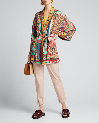 Beaded Kesa Wrap Jacket