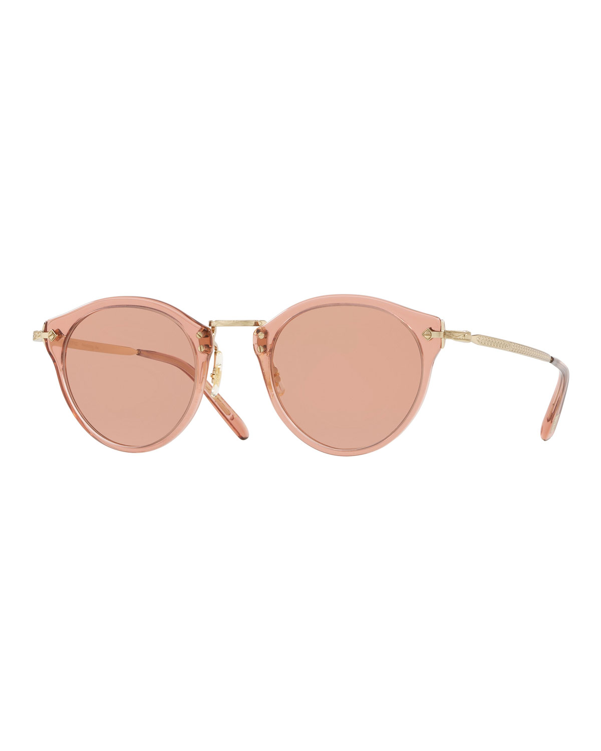 Oliver Peoples Sunglasses ACETATE & METAL ROUND PHOTOCHROMIC SUNGLASSES