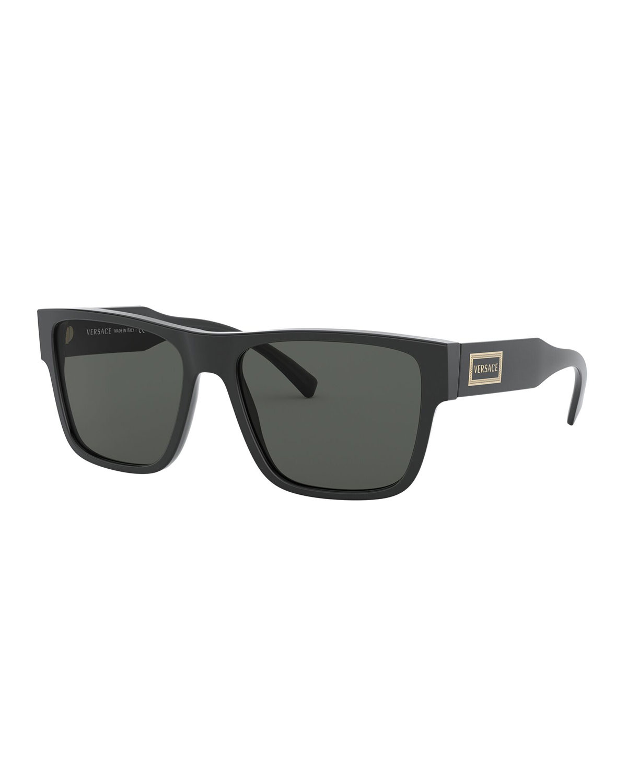 Versace Sunglasses RECTANGLE ACETATE SUNGLASSES