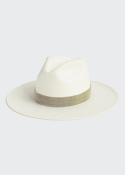 Marcelle Straw Fedora Hat