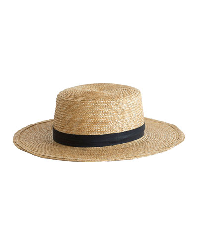 Klint Straw Boater Hat