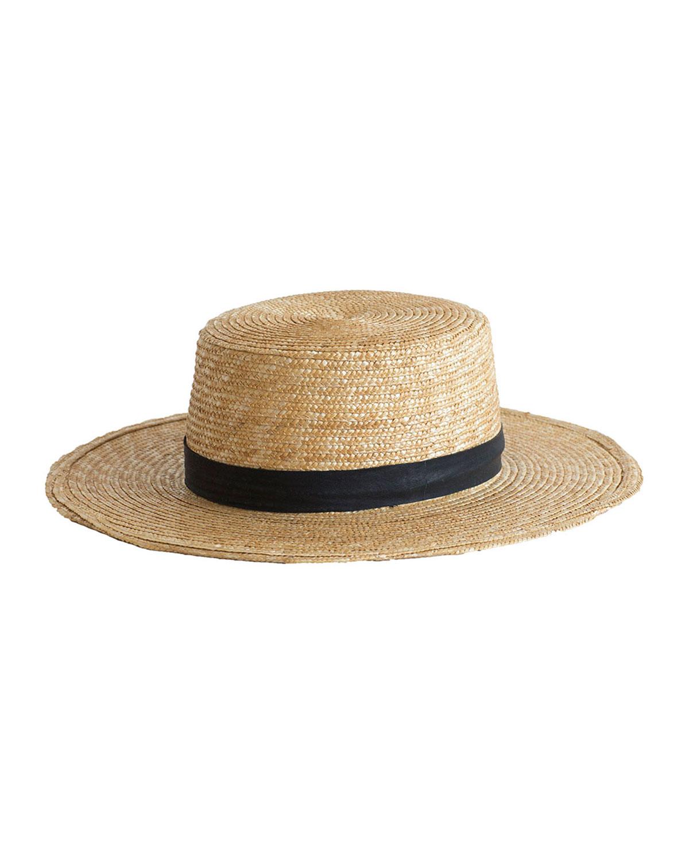 Janessa Leone KLINT STRAW BOATER HAT