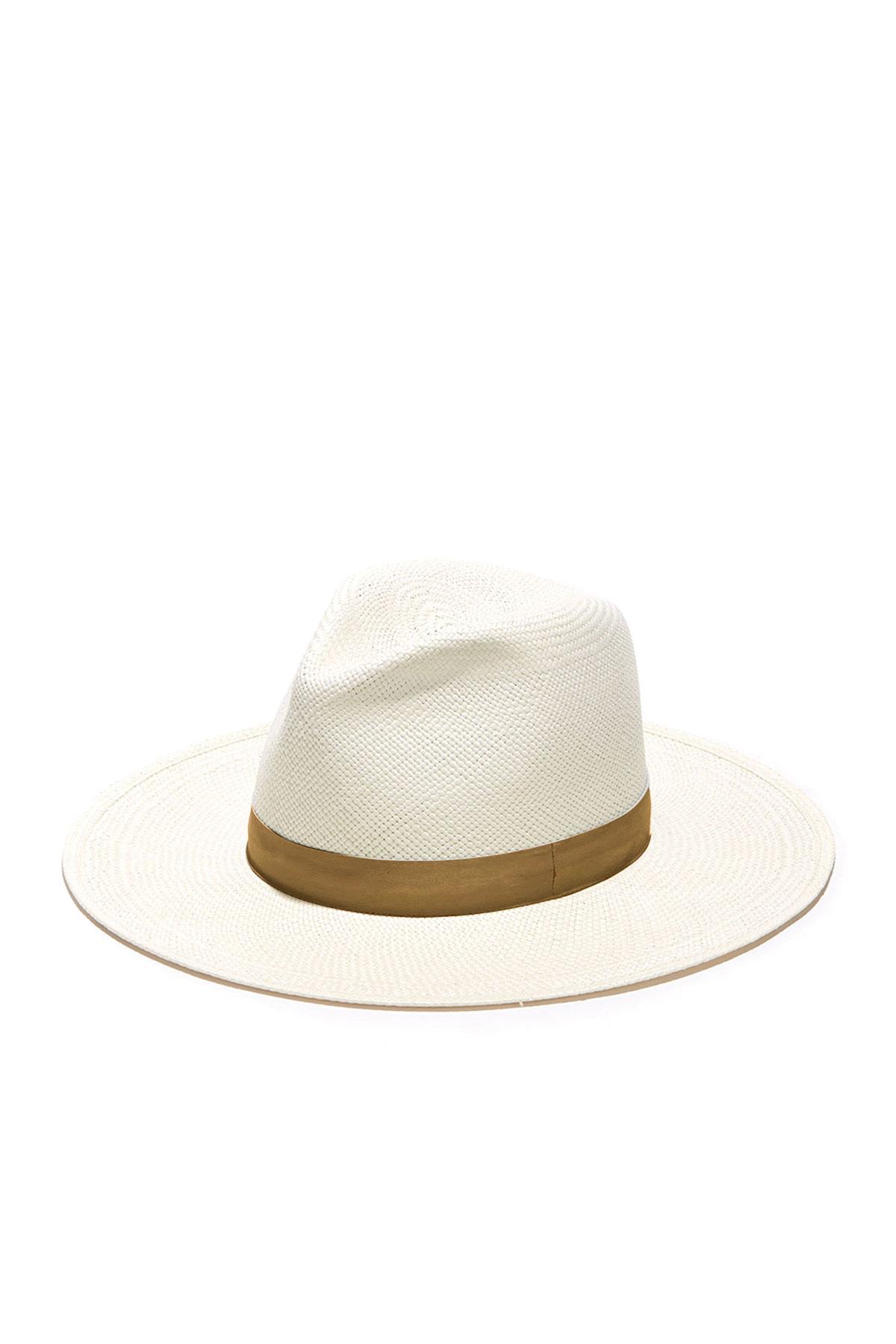 Janessa Leone AISLEY STRAW FEDORA HAT