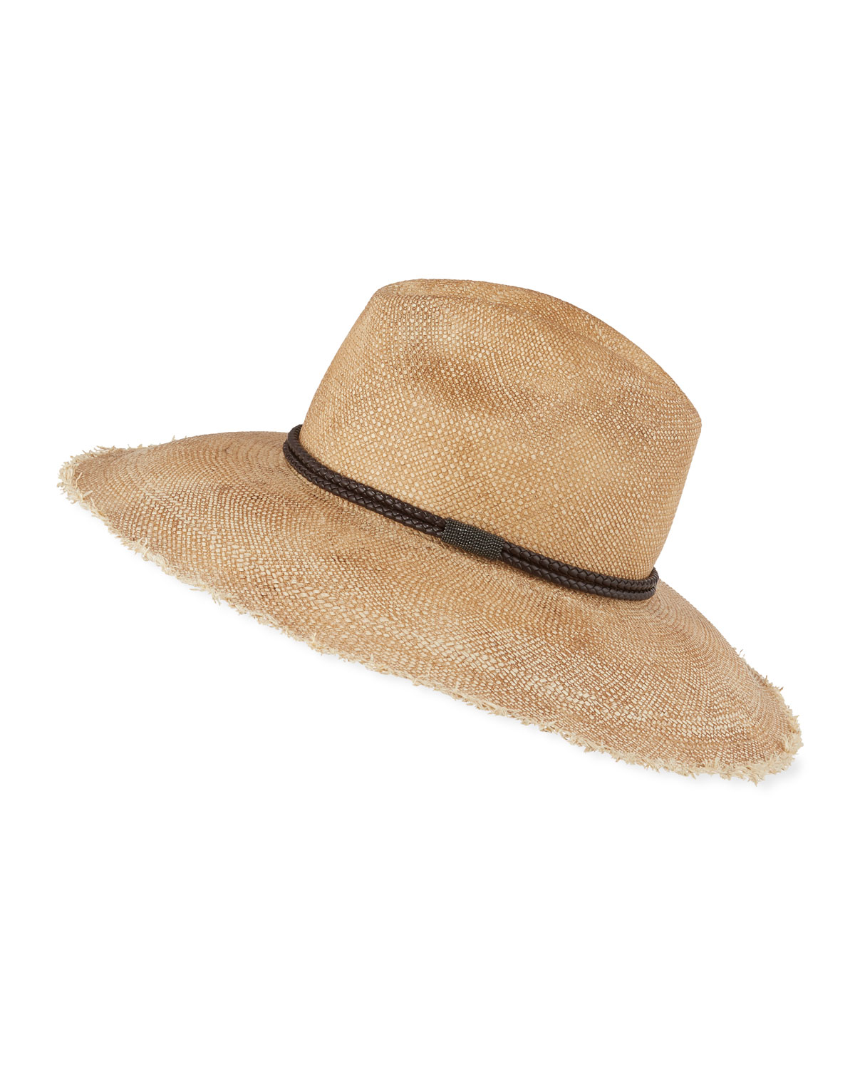 Brunello Cucinelli MONILI BEADED STRAW HAT