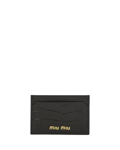 Croc-Stamped Card Case