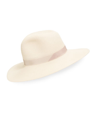 Emmanuelle Packable Wide Brim Fedora Hat