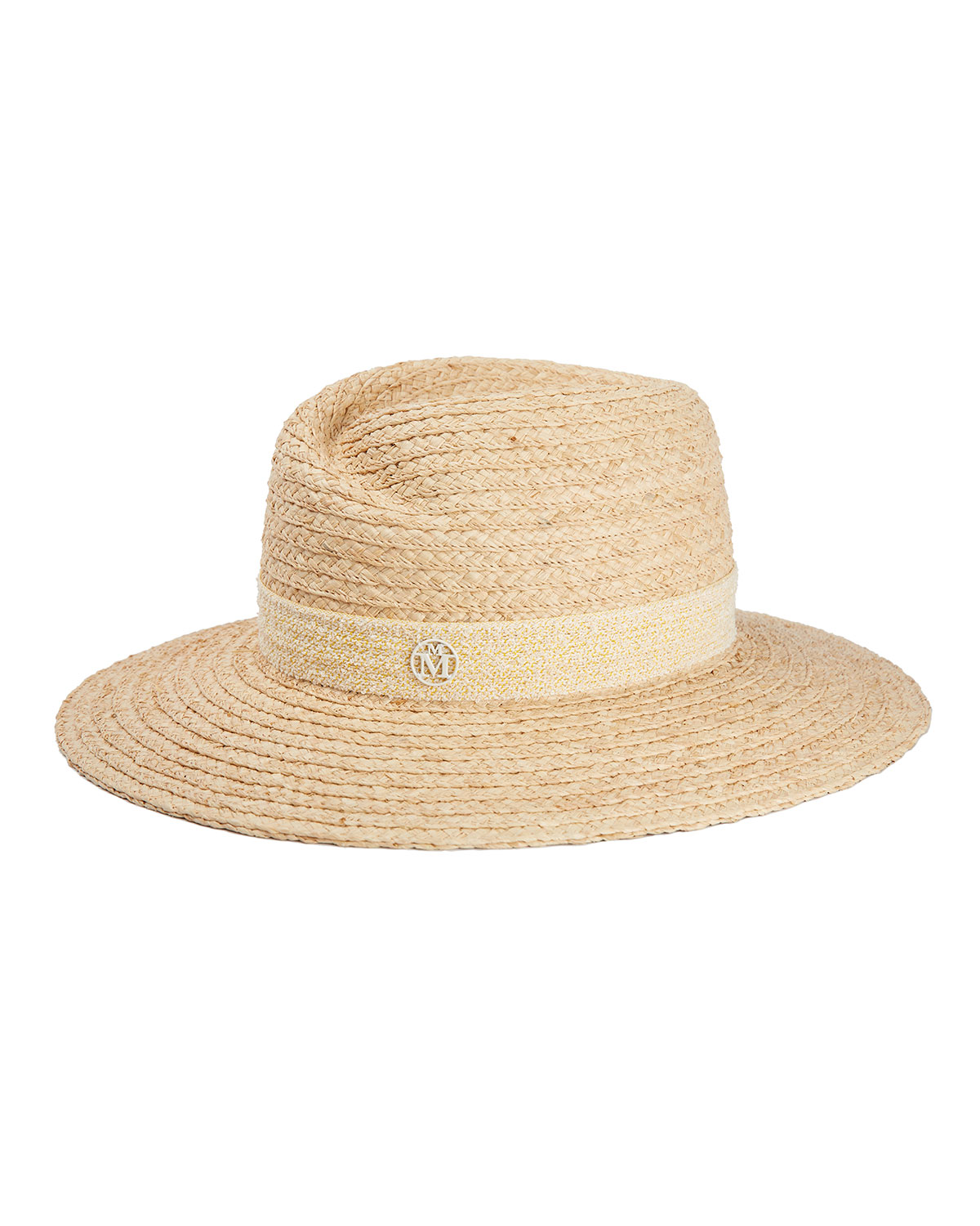 Maison Michel Hats VIRGINIE NATURAL STRAW FEDORA HAT