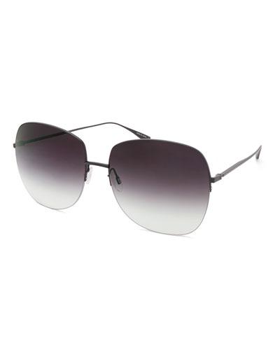 Harmonia Round Rimless Titanium Sunglasses