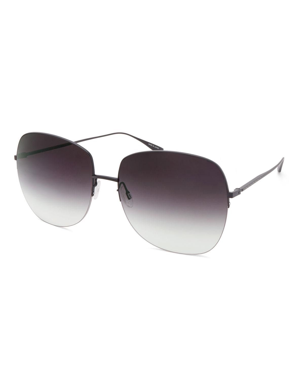 Barton Perreira Sunglasses HARMONIA ROUND RIMLESS TITANIUM SUNGLASSES