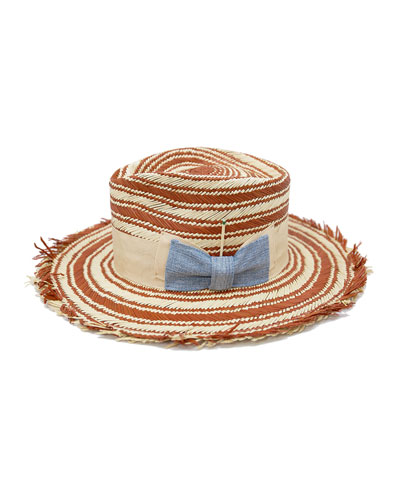 Terracrema Two-Tone Straw Fedora Hat