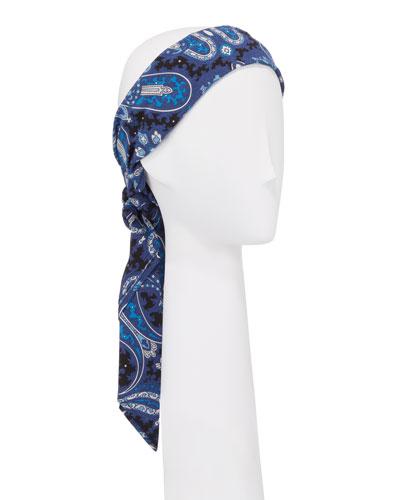 Paisley Silk Tie Turban Headband