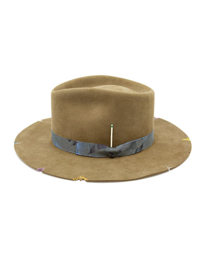 Whiskey Springs Beaver Felt Fedora Hat