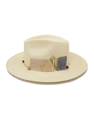 Sand Dollar Straw Fedora Hat