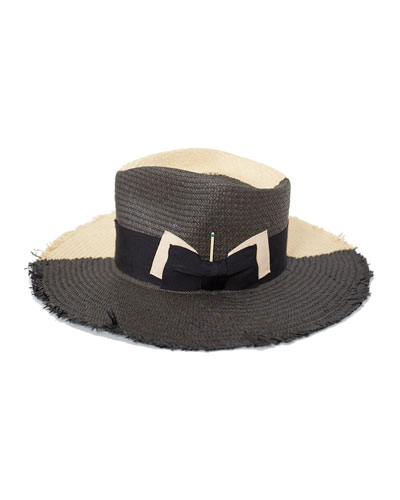 Tree Bones Two-Tone Straw Fedora Hat