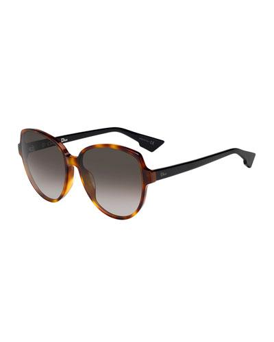 DiorOnde2 Round Acetate Sunglasses