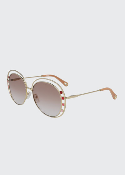 Butterfly Halo Metal Sunglasses