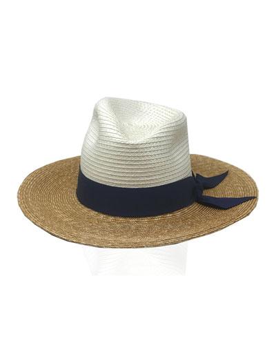 Drake Tricolor Straw Fedora Hat