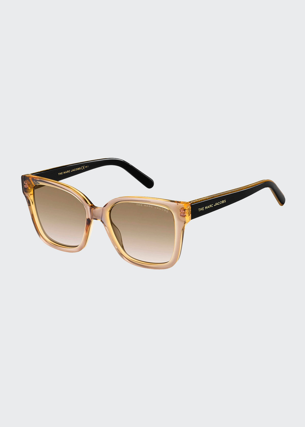 The Marc Jacobs SQUARE TWO-TONE ACETATE SUNGLASSES