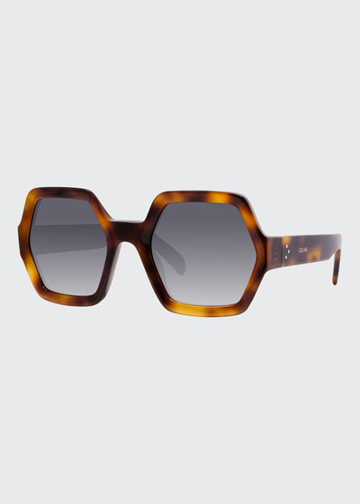 Hexagonal Acetate Polarized Sunglasses
