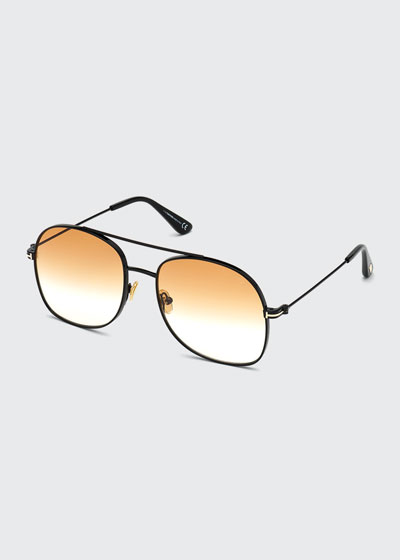 Delilah Metal Aviator Sunglasses