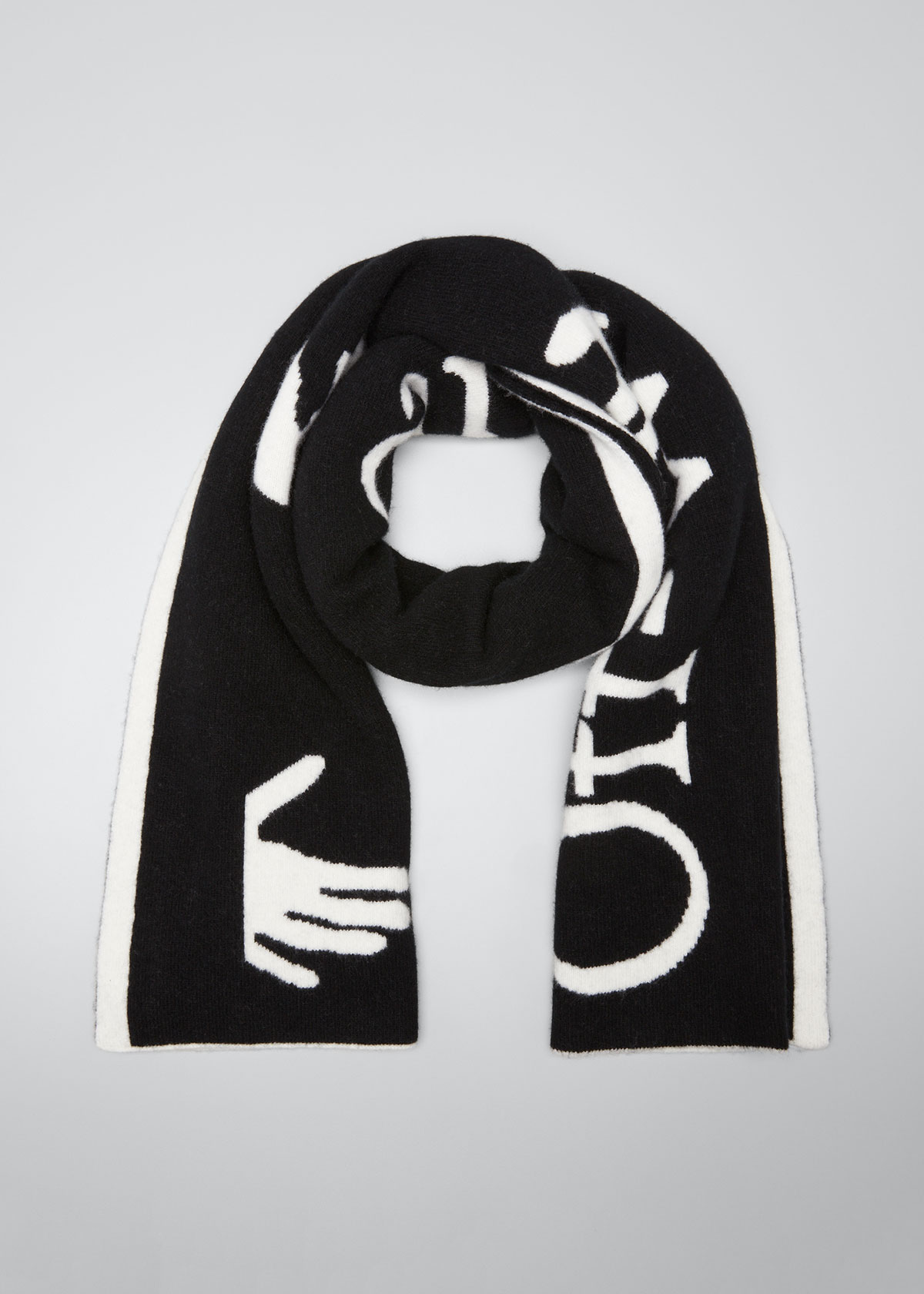 Off-White LOGO FELTED WOOL SCARF