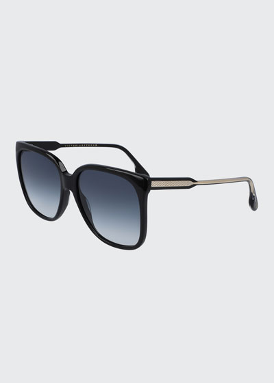 Guilloche Square Acetate Sunglasses