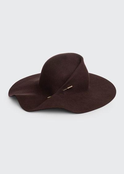 Catherine Sculpted Wide Brim Hat