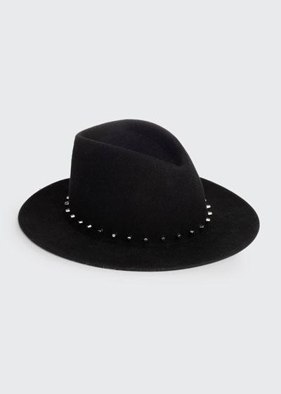 Blaine Studded Wool Fedora Hat