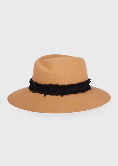 Virginie Wide-Brim Felt Fedora Hat