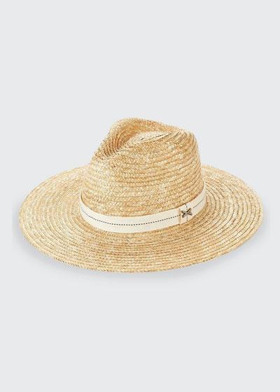 Provence Wide-Brim Straw Fedora Hat