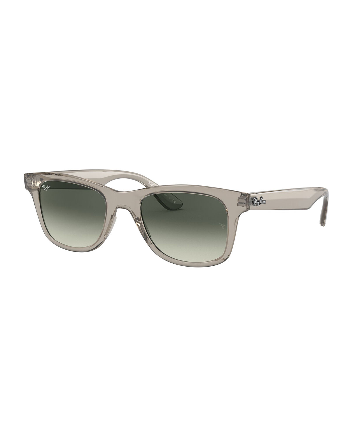 Ray Ban SQUARE ACETATE SUNGLASSES, TRANSPARENT GRAY