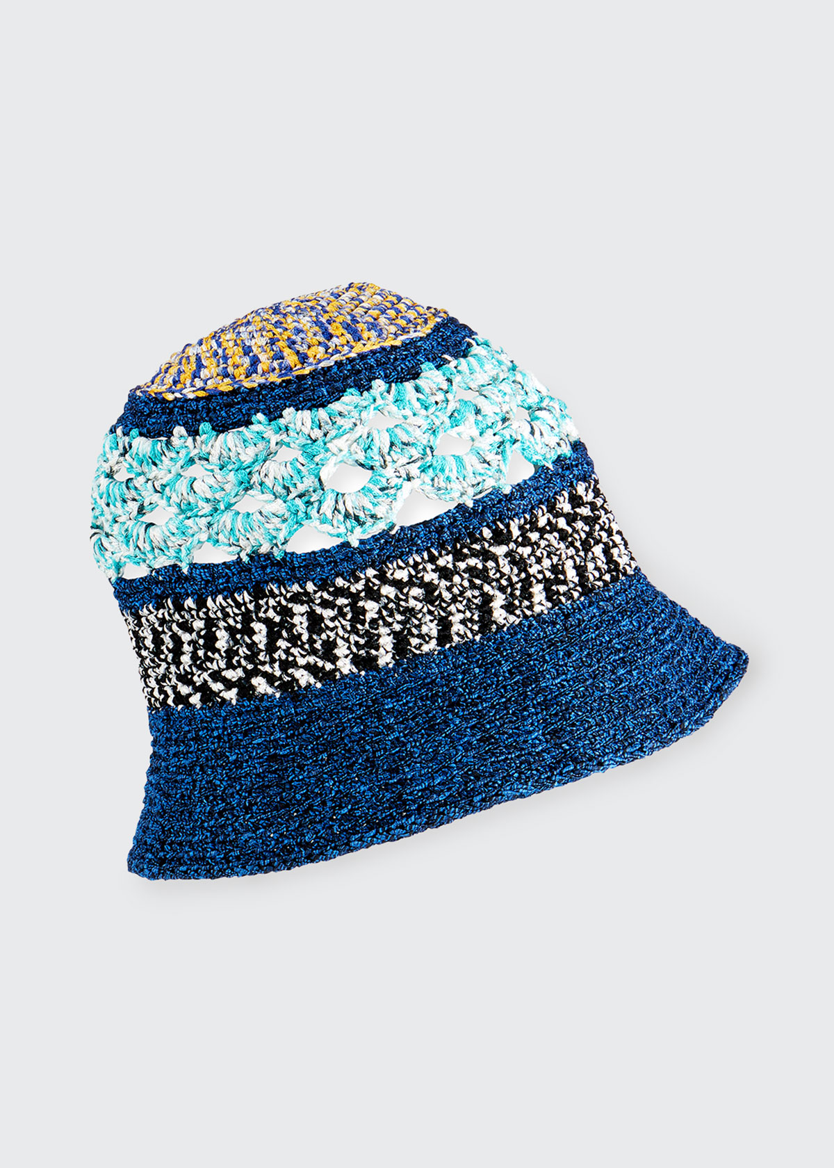 Missoni MIXED-PATTERN BUCKET HAT