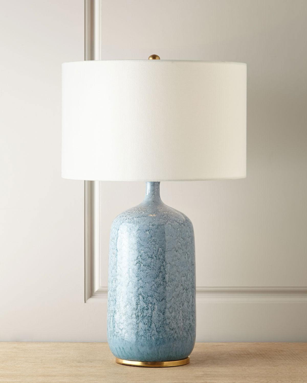Aerin Lighting & lamps CULLODEN BLUE LAGOON TABLE LAMP