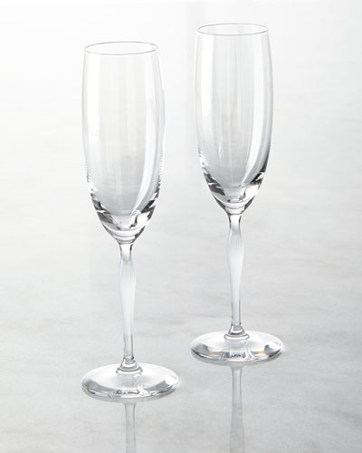 Two 100 Points Champagne Flutes