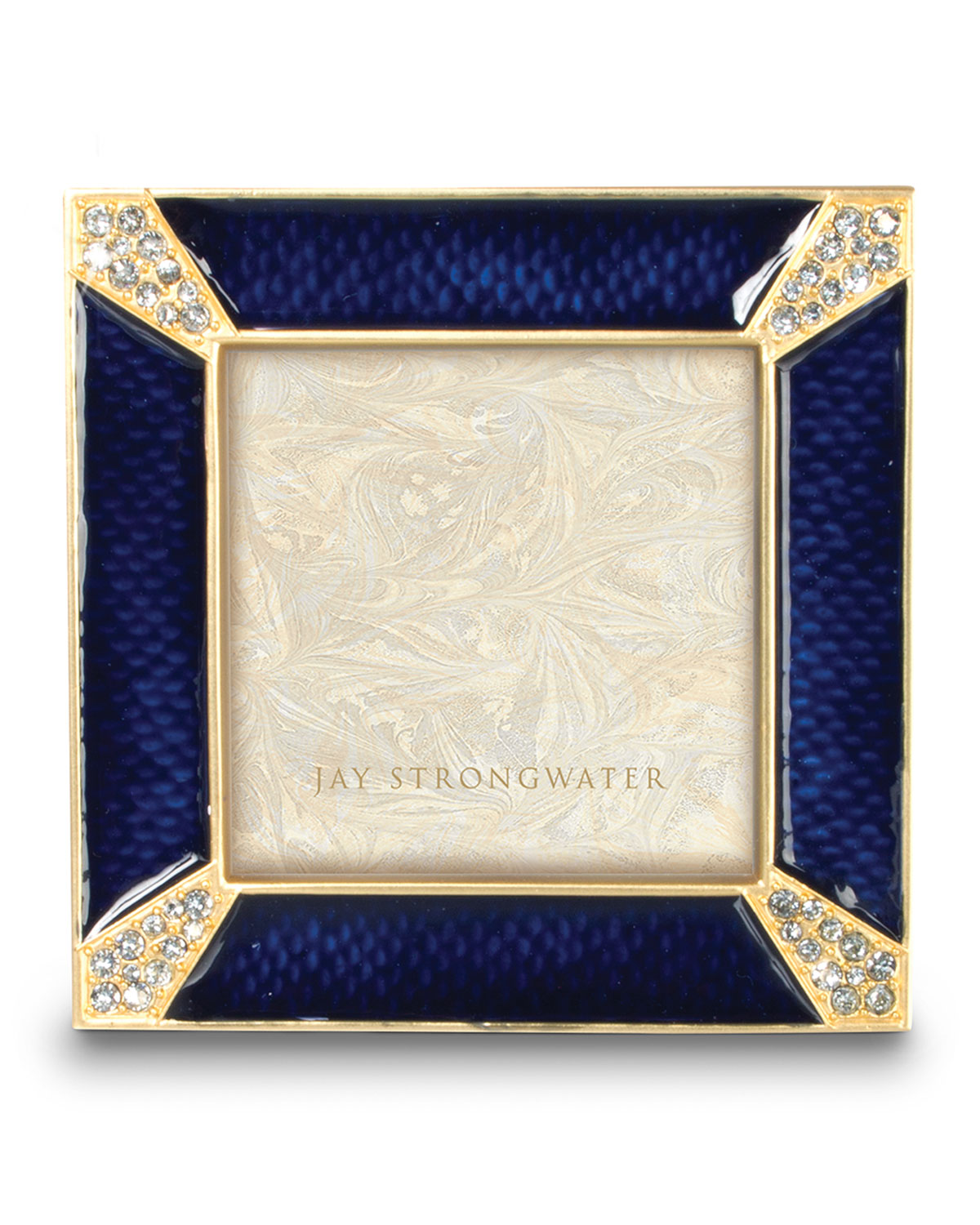 """Jay Strongwater Picture frames LELAND INDIGO PAVE CORNER 2"""" SQUARE PICTURE FRAME"""